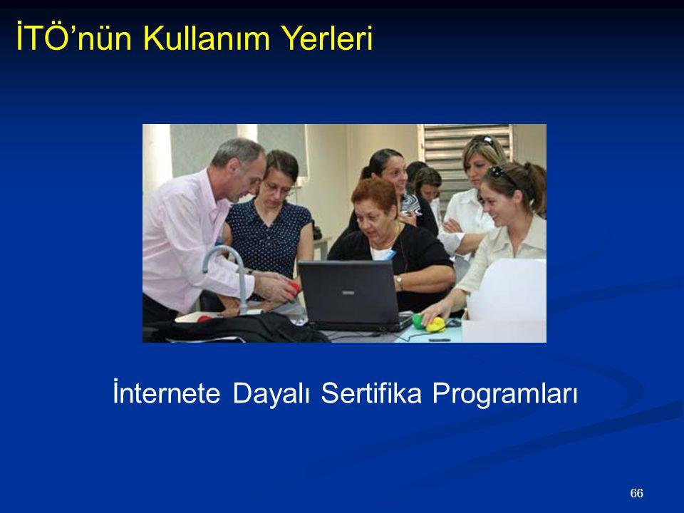 66 İTÖ'nün Kullanım Yerleri İnternete Dayalı Sertifika Programları