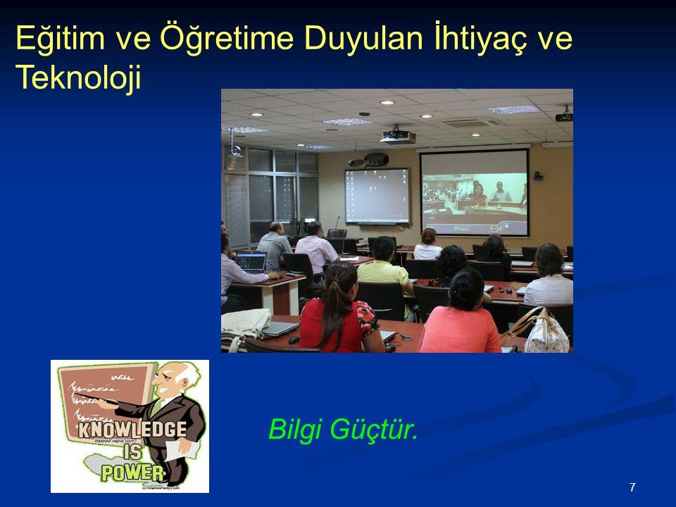 8 Eğitim ve Öğretime Duyulan İhtiyaç ve Teknoloji Mersin Üniversitesi Uzaktan Öğretim Uygulamaları –Video Kaydı