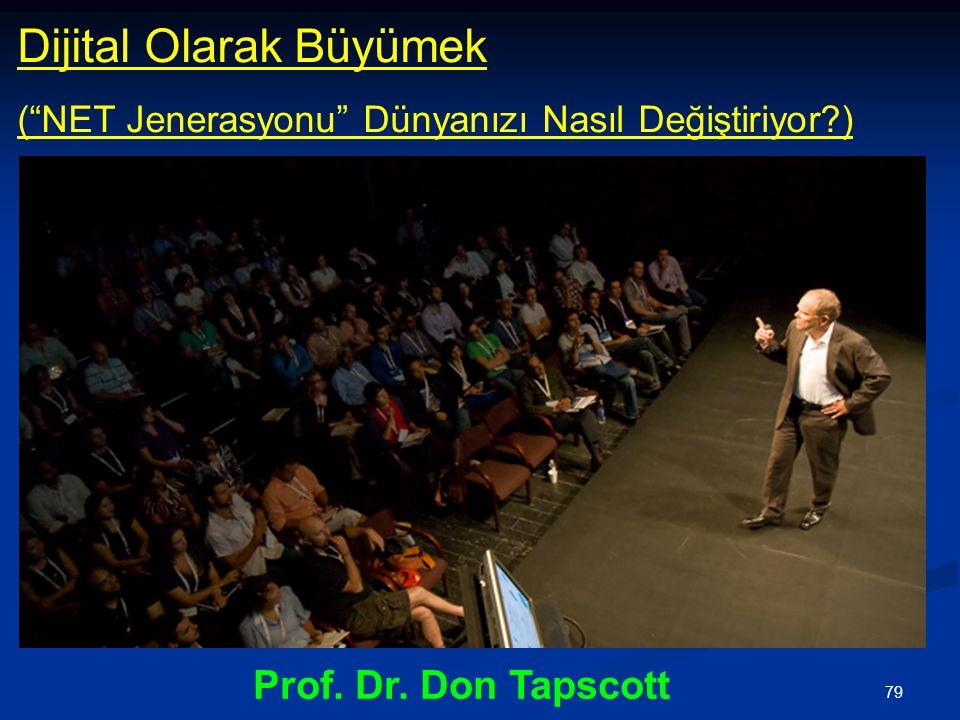 79 Dijital Olarak Büyümek ( NET Jenerasyonu Dünyanızı Nasıl Değiştiriyor?) Prof. Dr. Don Tapscott