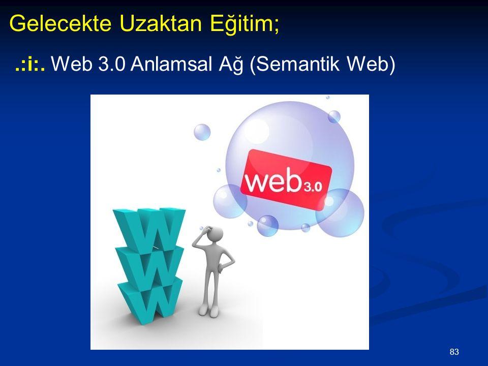 83 Gelecekte Uzaktan Eğitim;.:i:. Web 3.0 Anlamsal Ağ (Semantik Web)