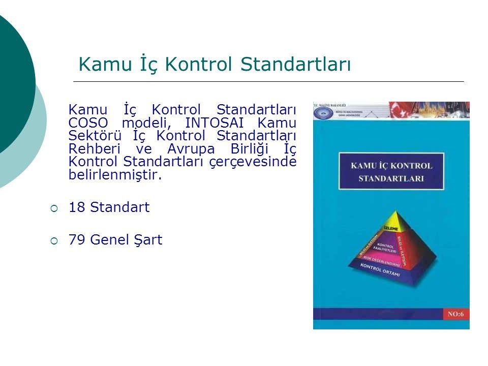 Kamu İç Kontrol Standartları Kamu İç Kontrol Standartları COSO modeli, INTOSAI Kamu Sektörü İç Kontrol Standartları Rehberi ve Avrupa Birliği İç Kontr