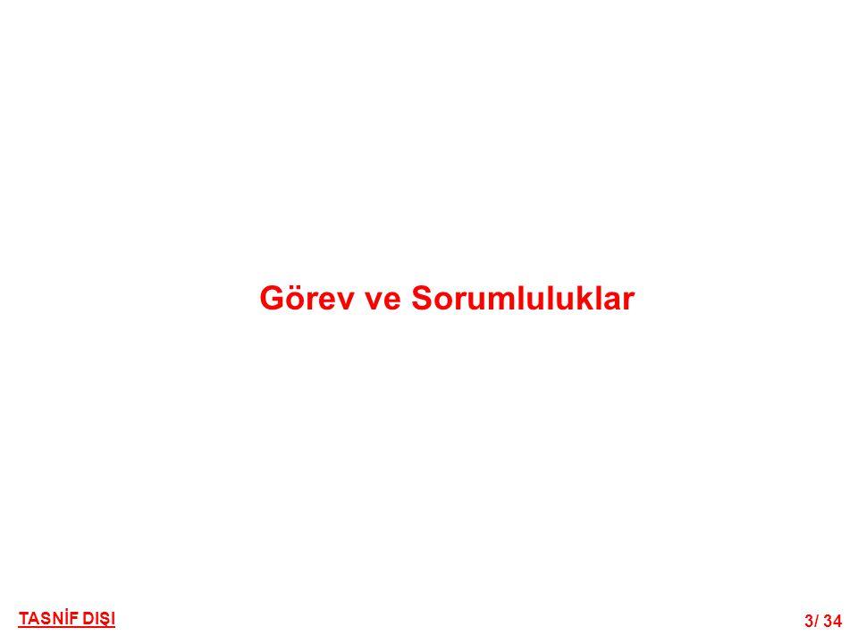 34/ 34 TASNİF DIŞI MSB Teknik Hizmetler Dairesi Başkanlığı Kodlandırma Şubesi Müdürlüğü Ocak 2014