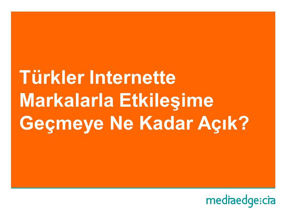 Türkler Internette Markalarla Etkileşime Geçmeye Ne Kadar Açık?