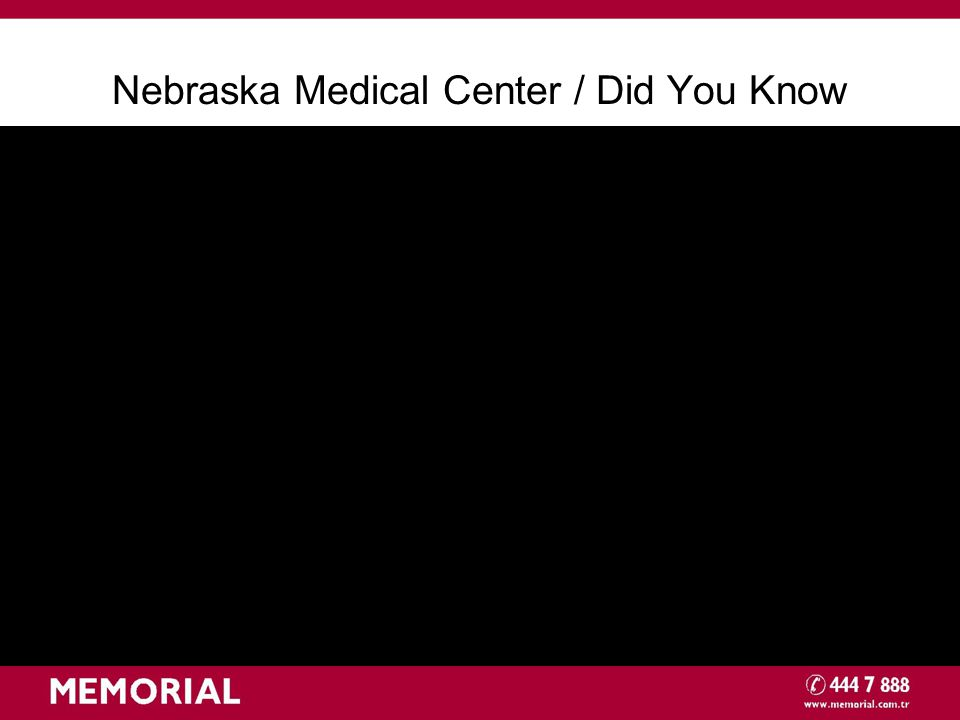 Nebraska Medical Center / Did You Know
