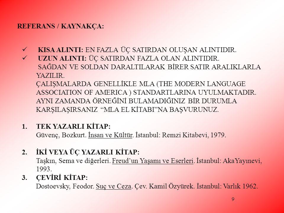 10 4.MAKALE 5. DERGİ 6. GAZETE 7. ANSİKLOPEDİ 8. SÖZLÜK 9.