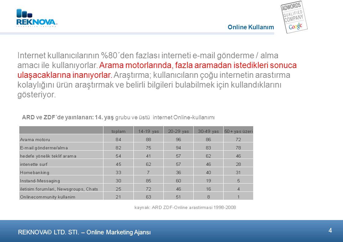 Internet kullanιcιlarιnın %80´den fazlası interneti e-mail gönderme / alma amacι ile kullanιyorlar.