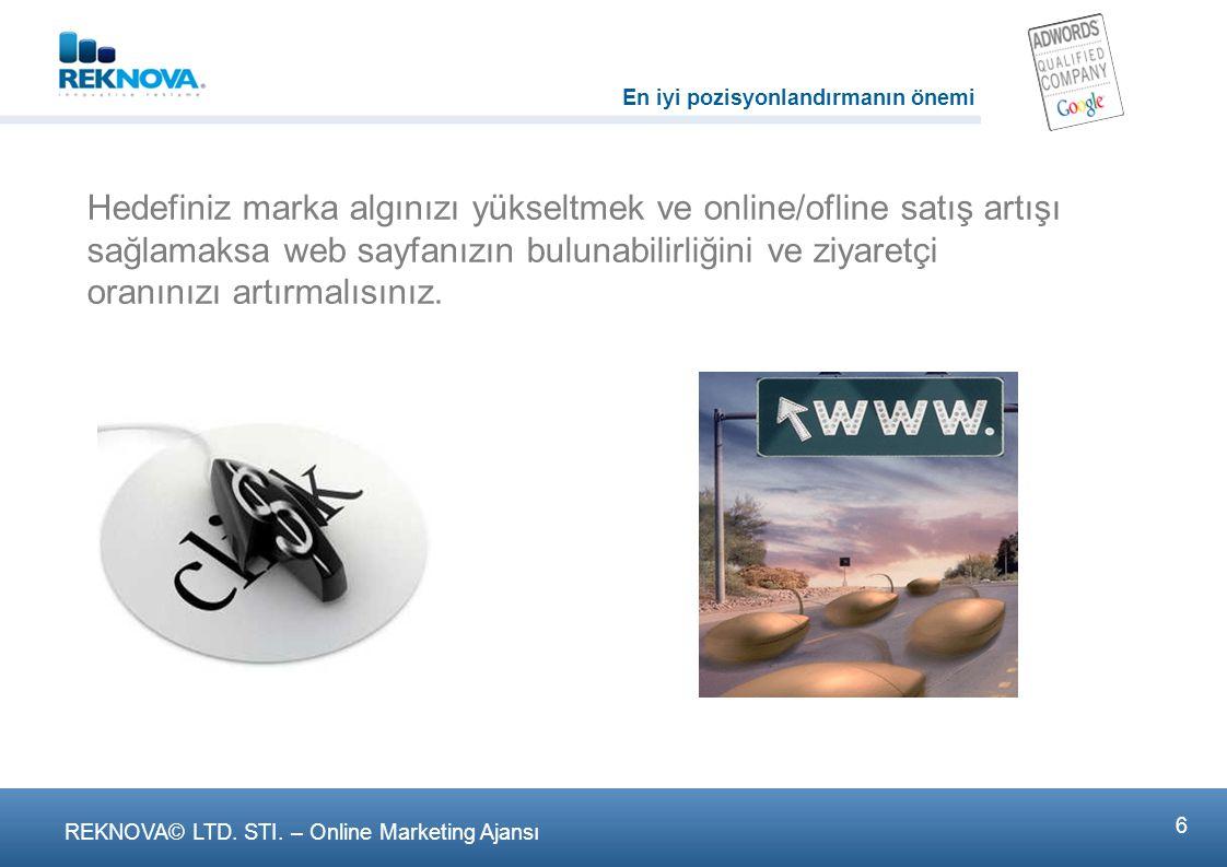 2 REKNOVA© LTD. STI. – Online Marketing Ajansι Pazarlamada enstrümanlarınız tam olmalı.!!!