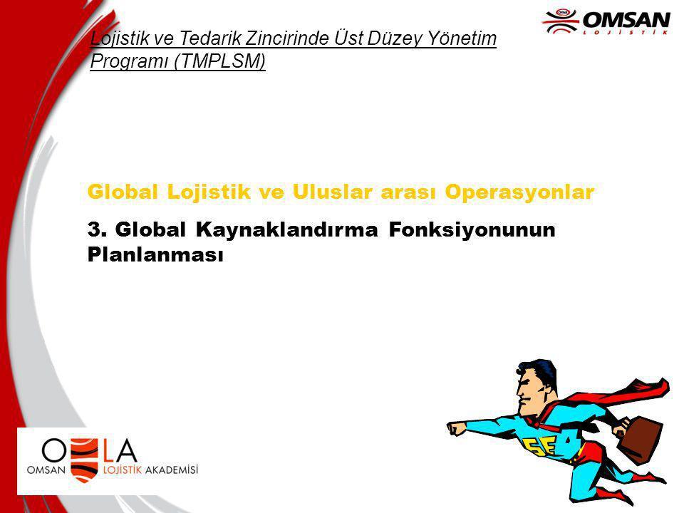 Global Lojistik ve Uluslar arası Operasyonlar 3.
