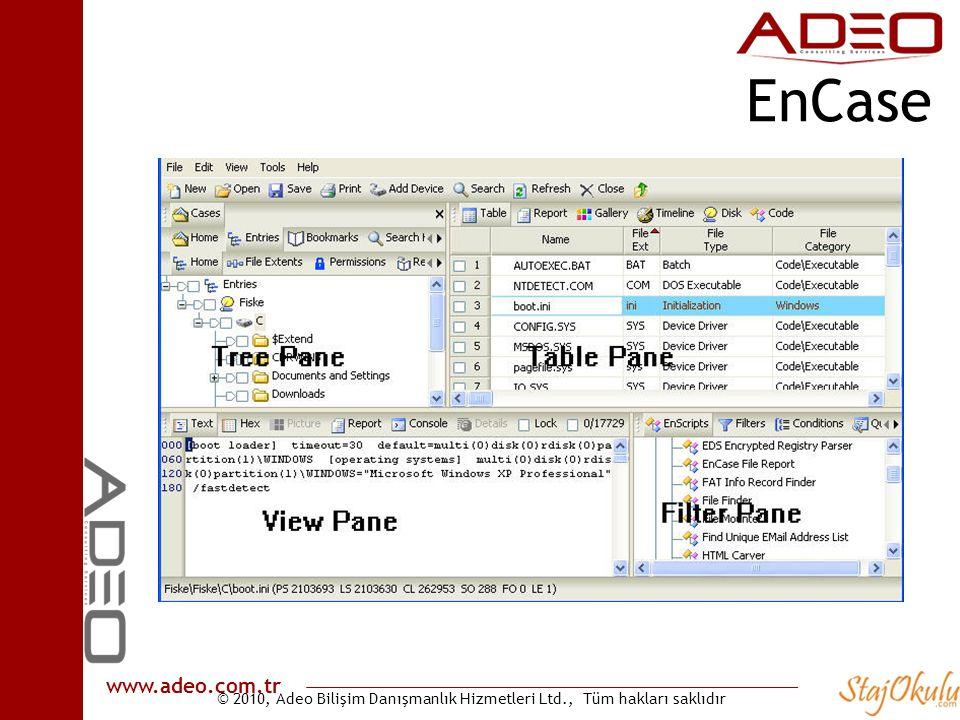 © 2010, Adeo Bilişim Danışmanlık Hizmetleri Ltd., Tüm hakları saklıdır www.adeo.com.tr EnCase