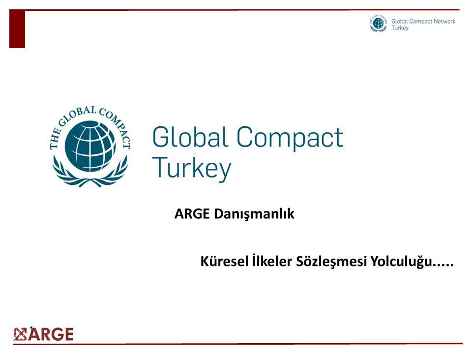 1 ARGE Danışmanlık Küresel İlkeler Sözleşmesi Yolculuğu.....