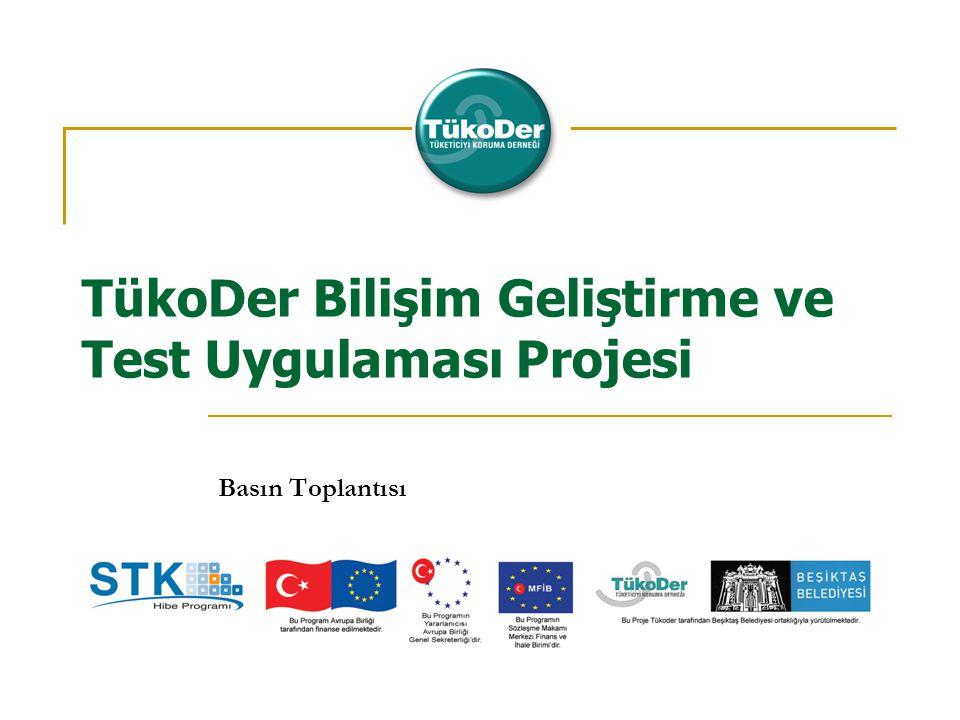 TükoDer Bilişim Geliştirme ve Test Uygulaması Projesi Basın Toplantısı