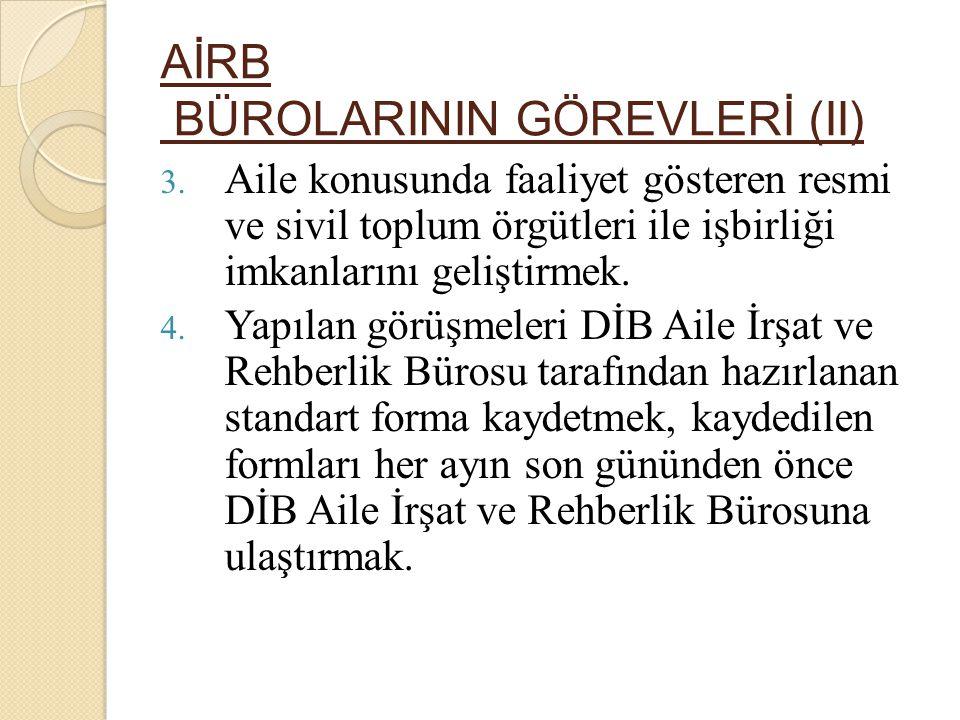 AİRB BÜROLARININ GÖREVLERİ (II) 3.
