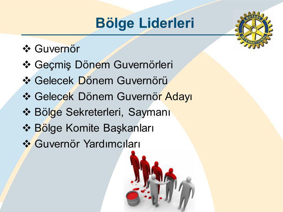 Bölge Liderleri  Guvernör  Geçmiş Dönem Guvernörleri  Gelecek Dönem Guvernörü  Gelecek Dönem Guvernör Adayı  Bölge Sekreterleri, Saymanı  Bölge Komite Başkanları  Guvernör Yardımcıları