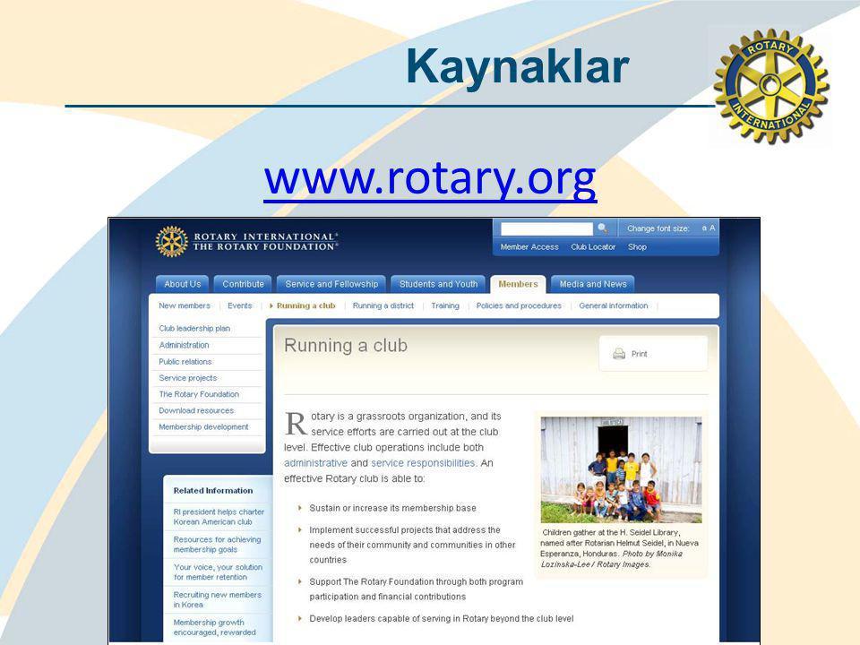 Kaynaklar www.rotary.org