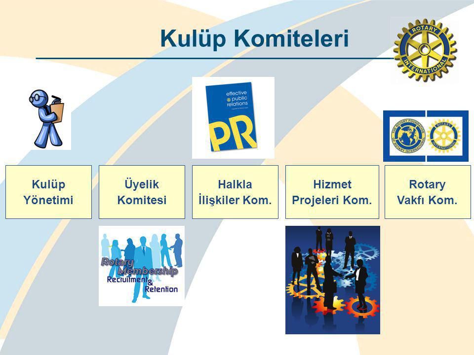 Üyelik Komitesi Bölge Üyelik Komitesi Kulüp Yönetimi Halkla İlişkiler Kom.