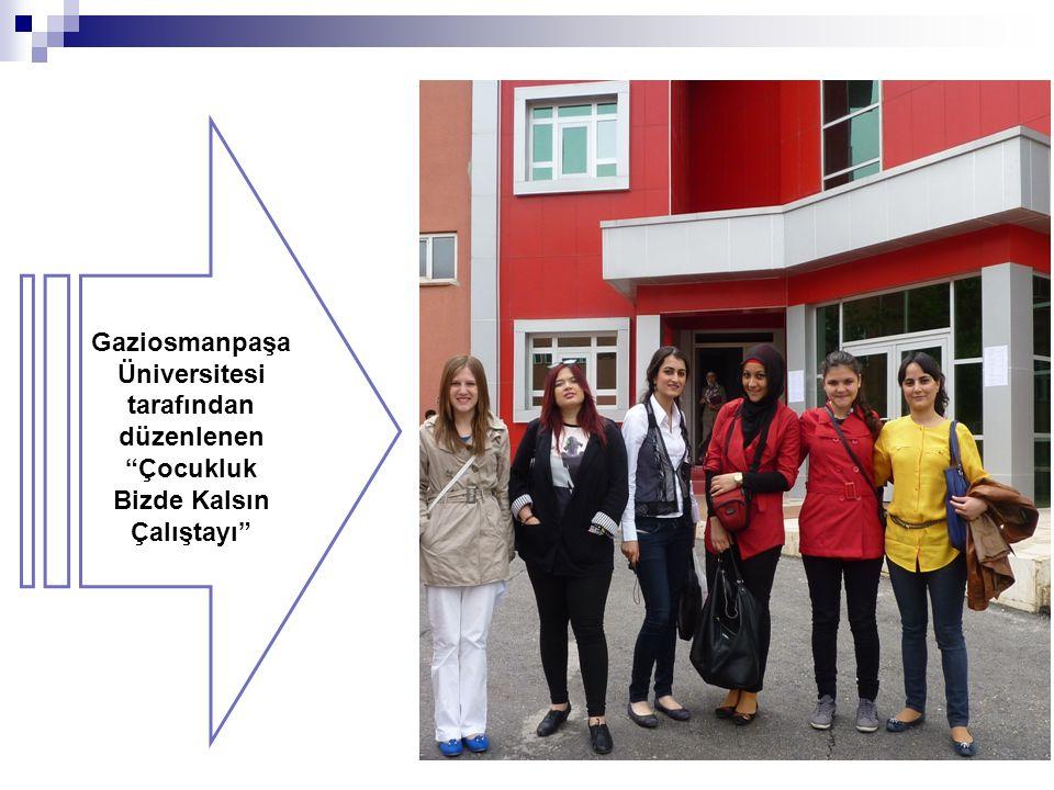 """Gaziosmanpaşa Üniversitesi tarafından düzenlenen """"Çocukluk Bizde Kalsın Çalıştayı"""""""