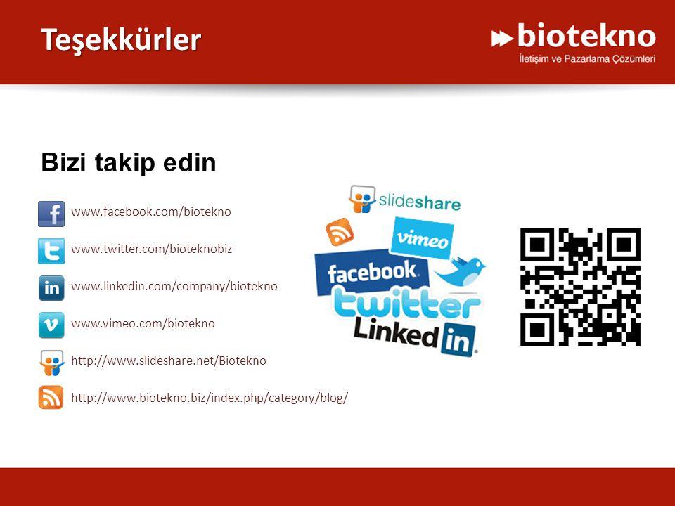Teşekkürler www.vimeo.com/biotekno www.linkedin.com/company/biotekno www.twitter.com/bioteknobiz www.facebook.com/biotekno Bizi takip edin http://www.