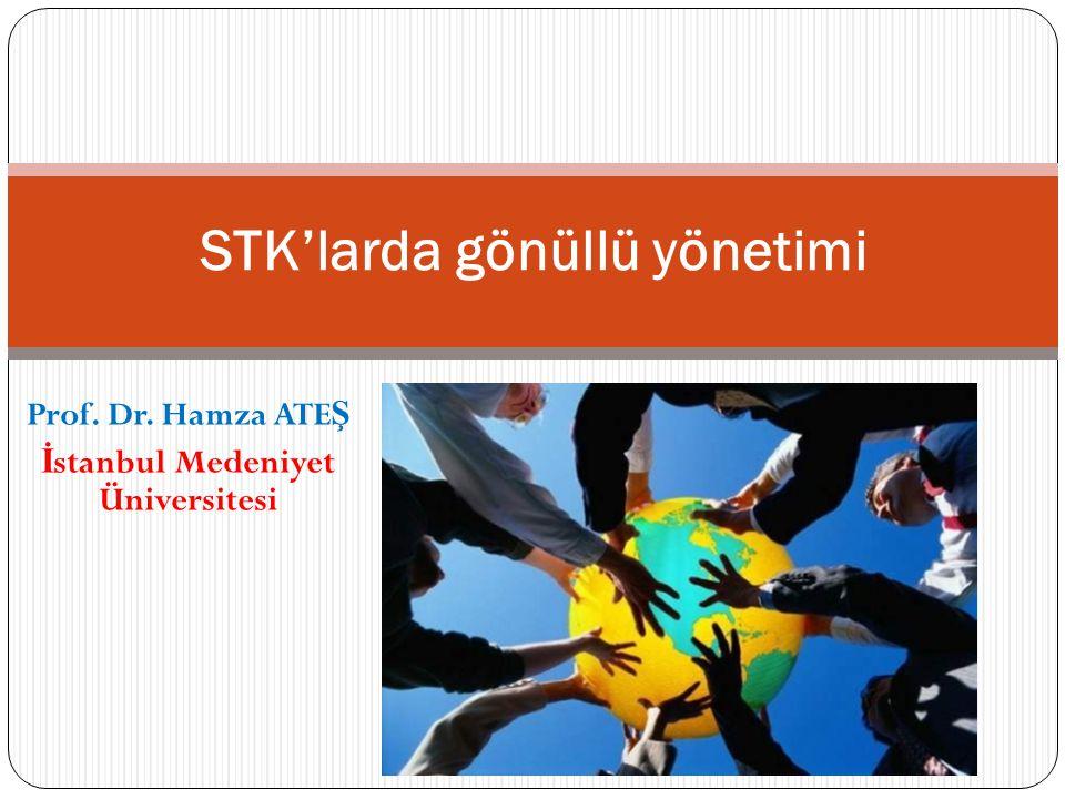 Prof. Dr. Hamza ATE Ş İ stanbul Medeniyet Üniversitesi STK'larda gönüllü yönetimi