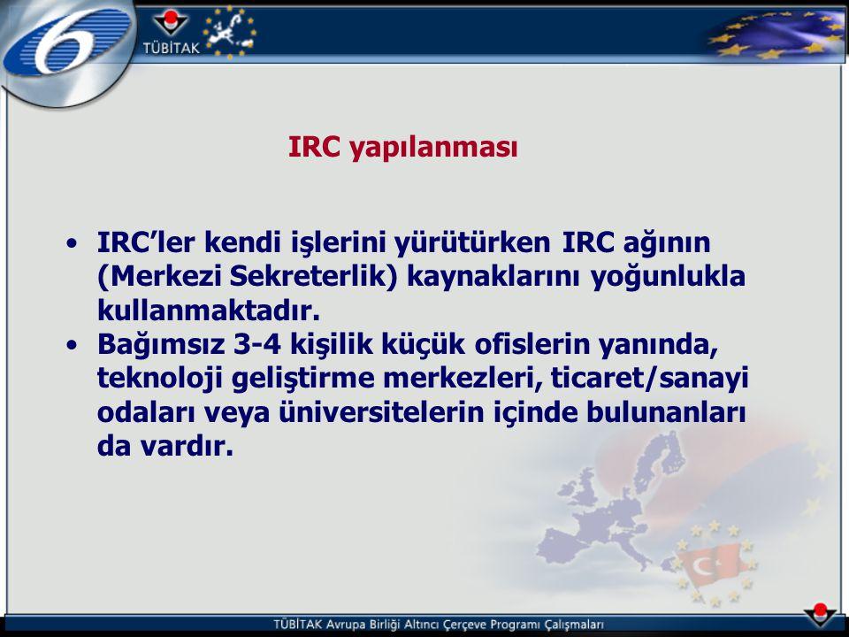 IRC yapılanması •IRC'ler kendi işlerini yürütürken IRC ağının (Merkezi Sekreterlik) kaynaklarını yoğunlukla kullanmaktadır. •Bağımsız 3-4 kişilik küçü