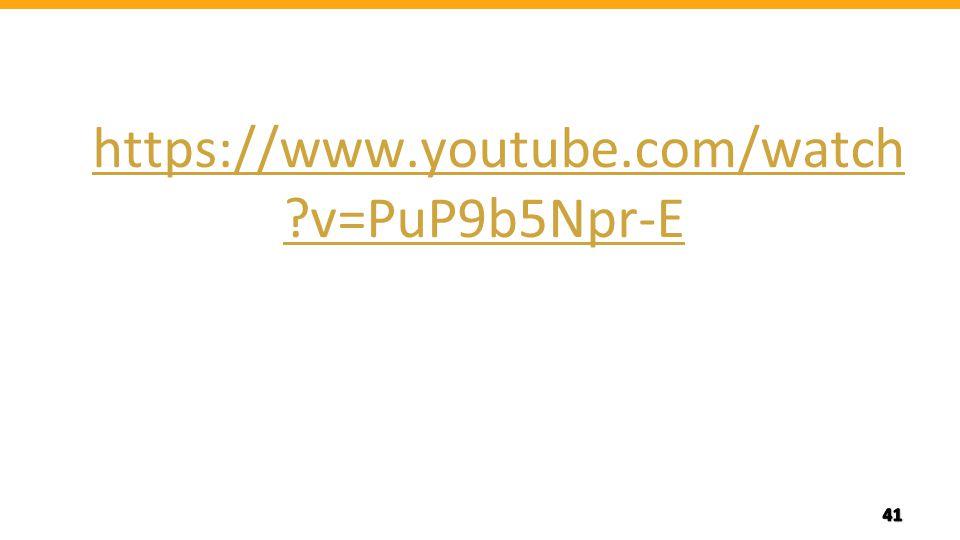 https://www.youtube.com/watch ?v=PuP9b5Npr-E