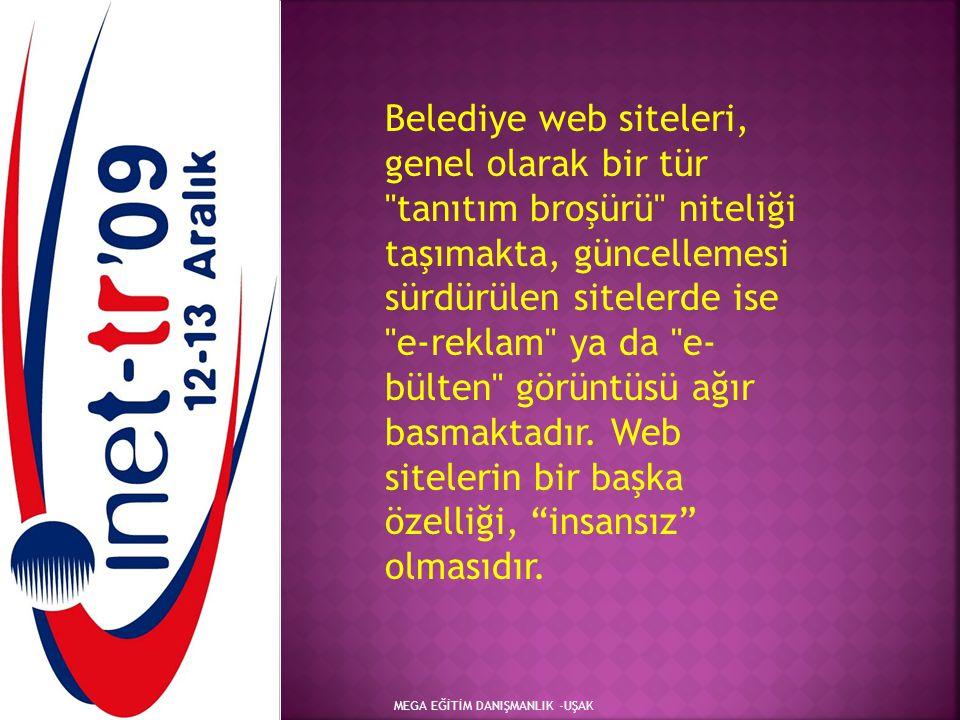 MEGA EĞİTİM DANIŞMANLIK -UŞAK Belediye web siteleri, genel olarak bir tür