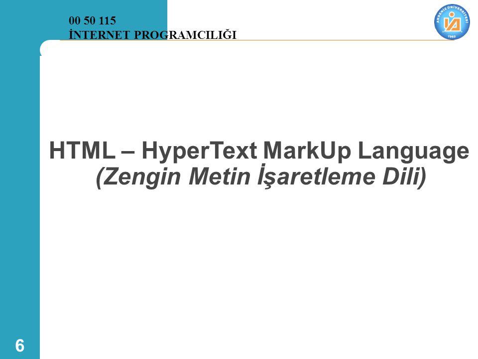 7 HTML Kullanarak Web Programlama  Günümüzde web sayfası geliştirmek için birkaç araç vardır: – Dreamweaver, Visual studio  Bu araçlar grafik düzeyde web sayfası geliştirmeyi sağlar.