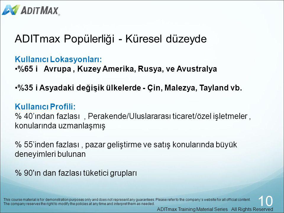 Şuanda, 10.000 in üzerinde reklamveren ADITmax servislerini kullanmaktadır.