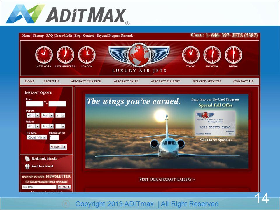 Copyright 2013 ADITmax | All Right Reserved Luxury Air Jets (Lüks Hava Jetleri ) www.luxuryairjets.com Reklam başlangıç Tarihi : 20 Haziran 20, 2013 Kullanılan Anahtar Kelimeler : luxury jets, jets