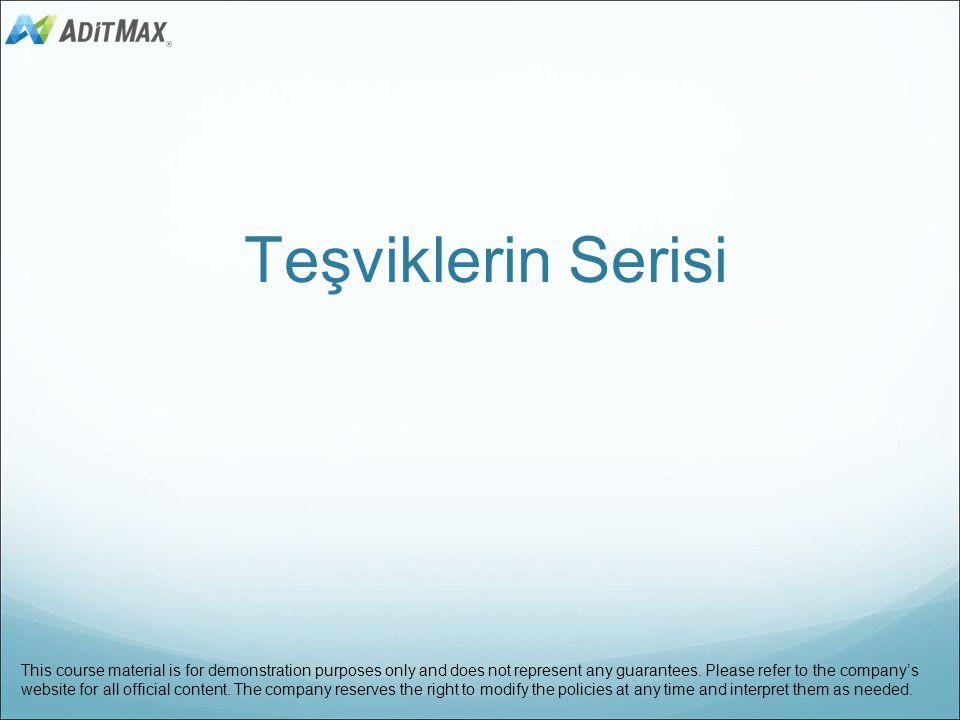 49 Örnek: Diyelim ki istanbul distributörlerinden birisiniz ve Aralık 2013'de, üye reklam paketleri satış geliri $ 1.000.000, toptan reklam paketleri