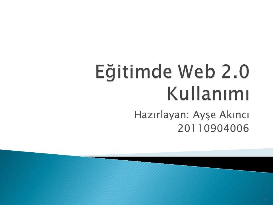 Bu slayt web 2.0 hakkında bilgi vermek amacıyla hazırlanmıştır.
