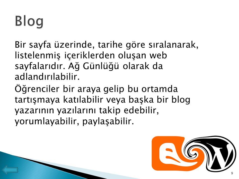 İnsanların web sayfaları üzerinde isteği değişikliği yapma imkanı sağlayan bilgi sayfaları topluluğudur.