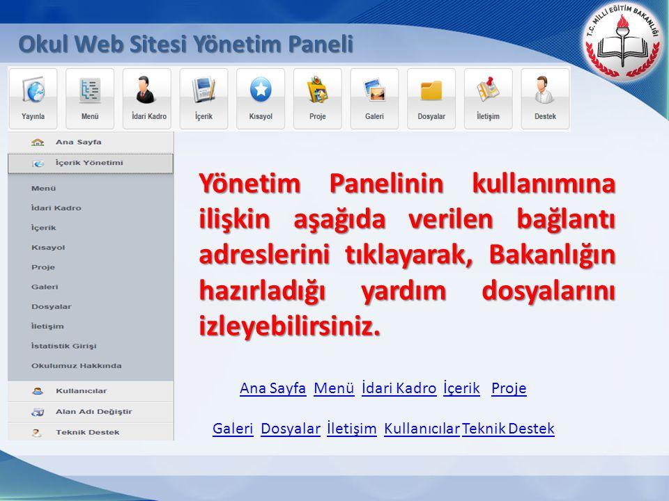 Ana SayfaAna Sayfa Menü İdari Kadro İçerik ProjeMenüİdari KadroİçerikProje GaleriGaleri Dosyalar İletişim Kullanıcılar Teknik DestekDosyalarİletişimKu