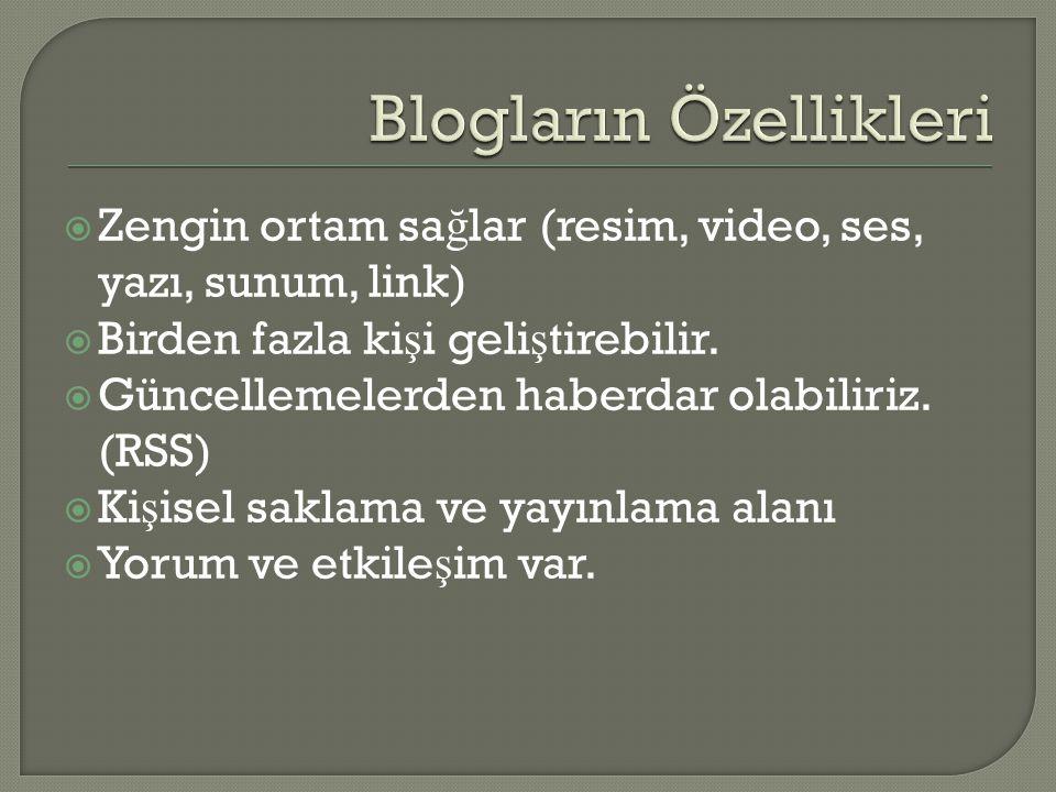  www.blogger.com  tr.wordpress.com  blogcu.com