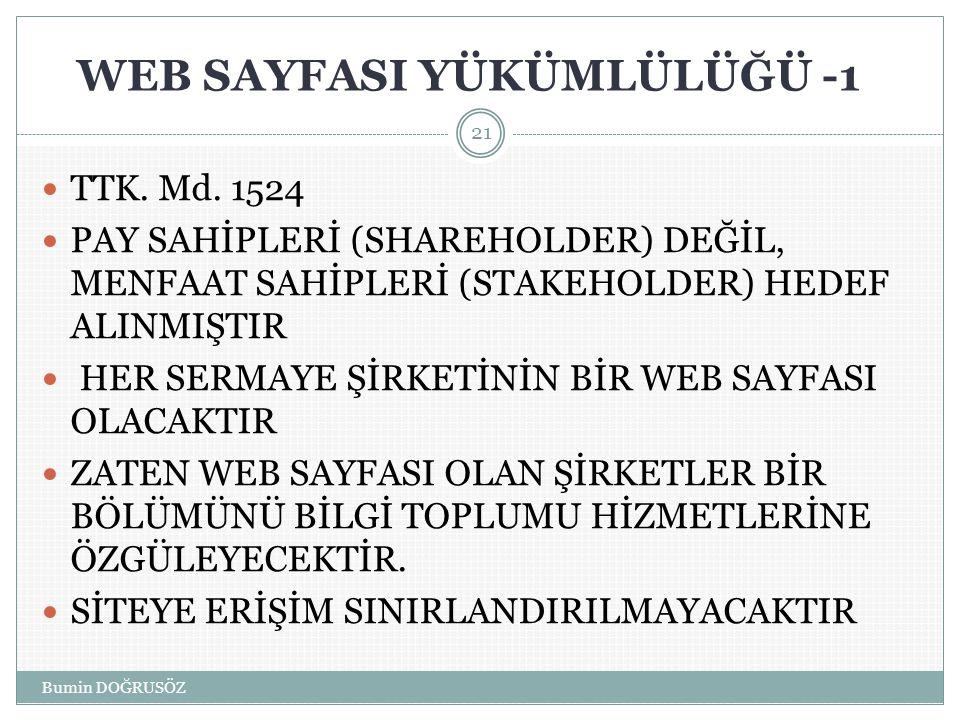 WEB SAYFASI YÜKÜMLÜLÜĞÜ -1  TTK.Md.