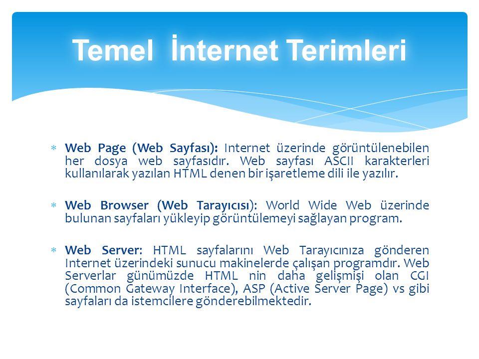 HTML: (Hyper Text Markup Language) Web Sayfası hazırlama dilidir.Metinlerin görünümünü, konumunu vs.