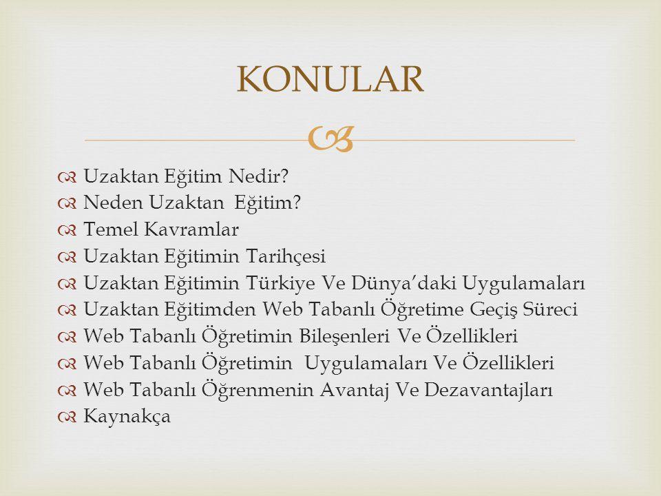  Uzaktan Eğitimin Türkiye' deki Uygulamaları  1927-1960 yılları arasında bu konu üzerine tartışma ve öneriler dönemi olmuştur.