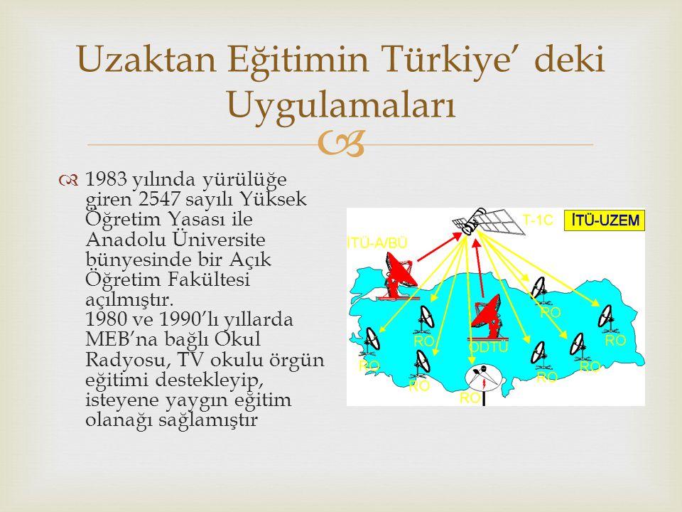   1983 yılında yürülüğe giren 2547 sayılı Yüksek Öğretim Yasası ile Anadolu Üniversite bünyesinde bir Açık Öğretim Fakültesi açılmıştır. 1980 ve 199