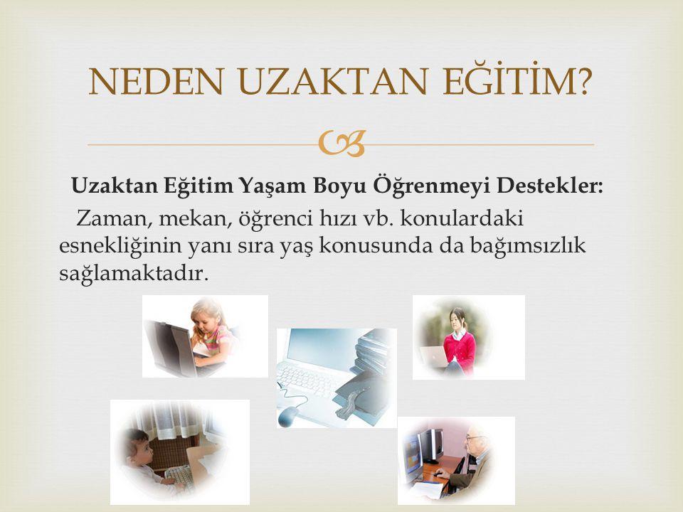   2000-2001 öğretim döneminde YÖK Uzaktan eğitim projesi (Harran Üniversitesi-İstanbul Üniversitesi  2001-2002 öğretim yılı bahar döneminde Sakarya Üniversitesi 1200 lisans öğrencisine internet yoluyla eğitim vermiştir.