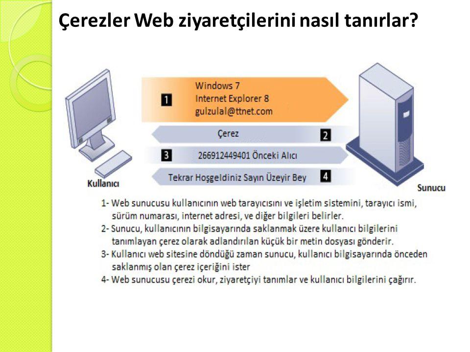 Çerezler Web ziyaretçilerini nasıl tanırlar?
