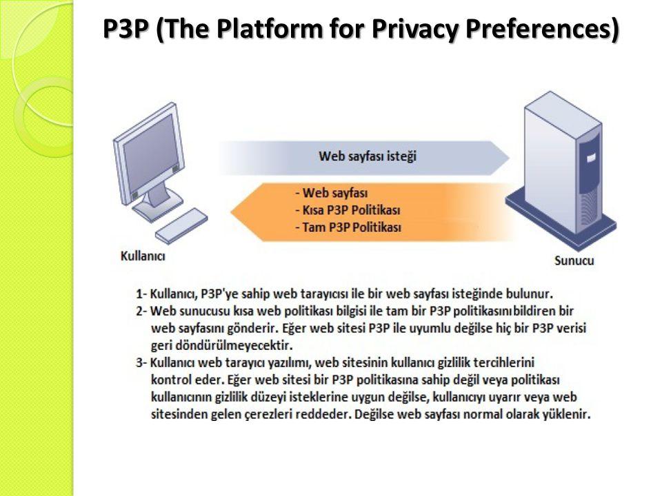 P3P (The Platform for Privacy Preferences)