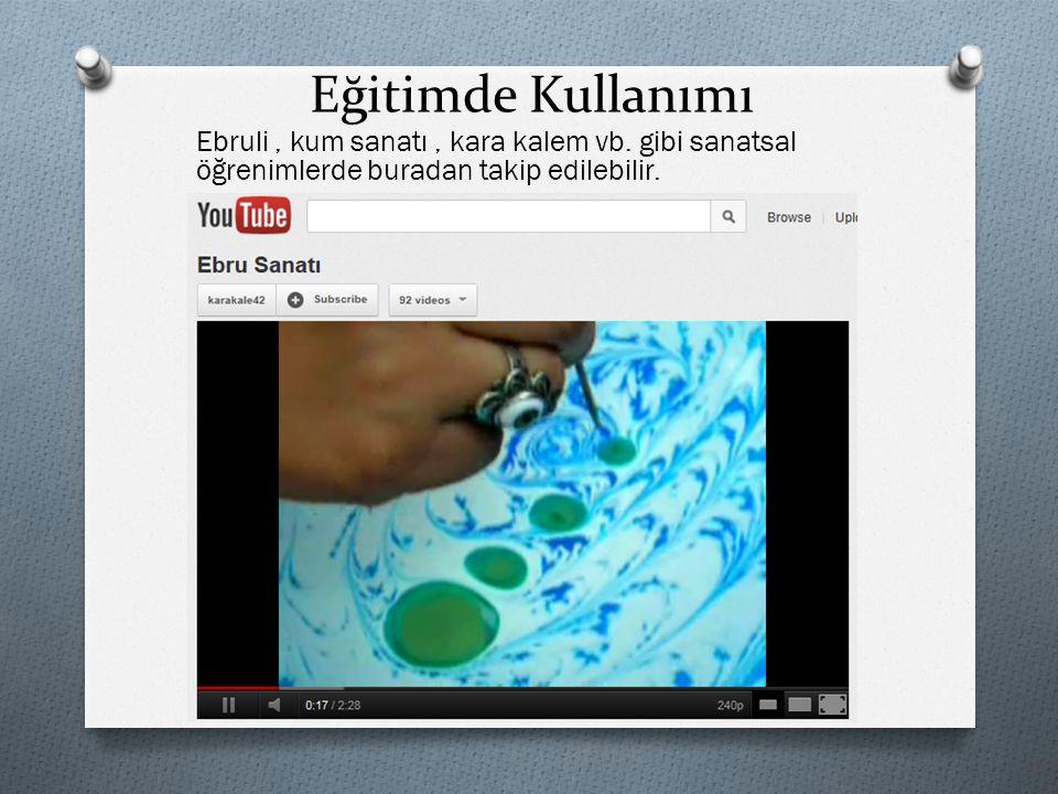 Eğitimde Kullanımı Ebruli, kum sanatı, kara kalem vb. gibi sanatsal öğrenimlerde buradan takip edilebilir.