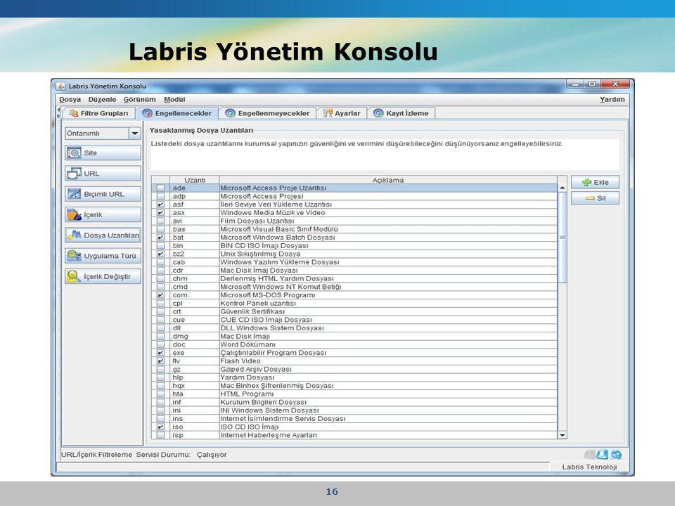 Labris Yönetim Konsolu 16