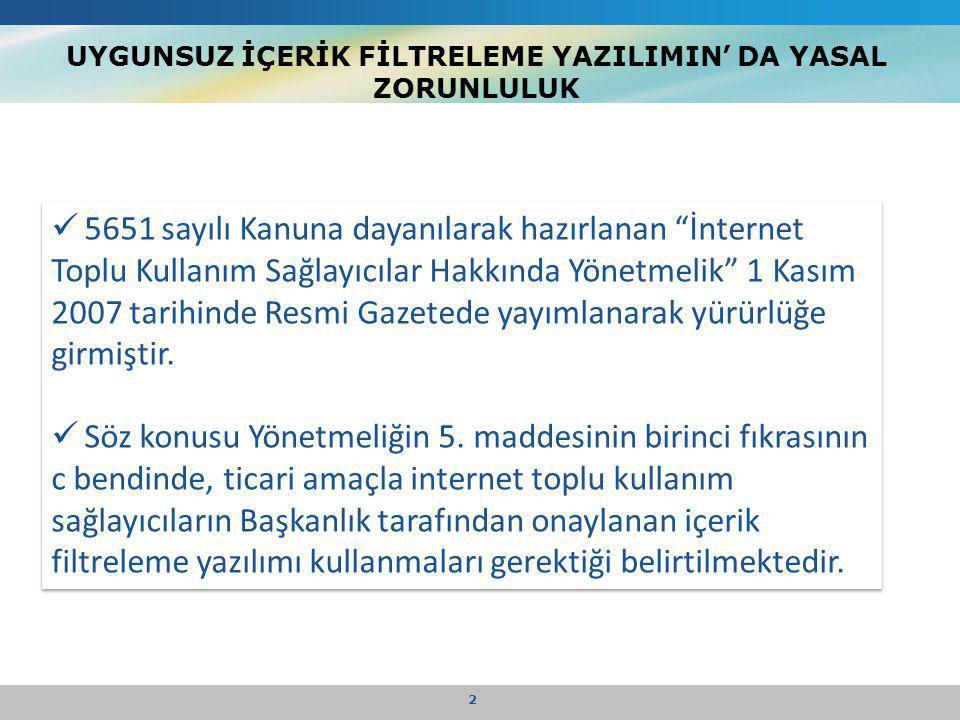 """UYGUNSUZ İÇERİK FİLTRELEME YAZILIMIN' DA YASAL ZORUNLULUK 2  5651 sayılı Kanuna dayanılarak hazırlanan """"İnternet Toplu Kullanım Sağlayıcılar Hakkında"""