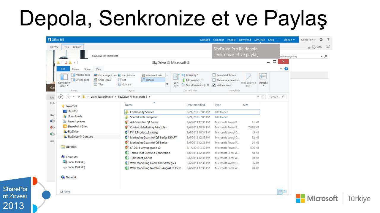 SharePoi nt Zirvesi 2013 Depola, Senkronize et ve Paylaş