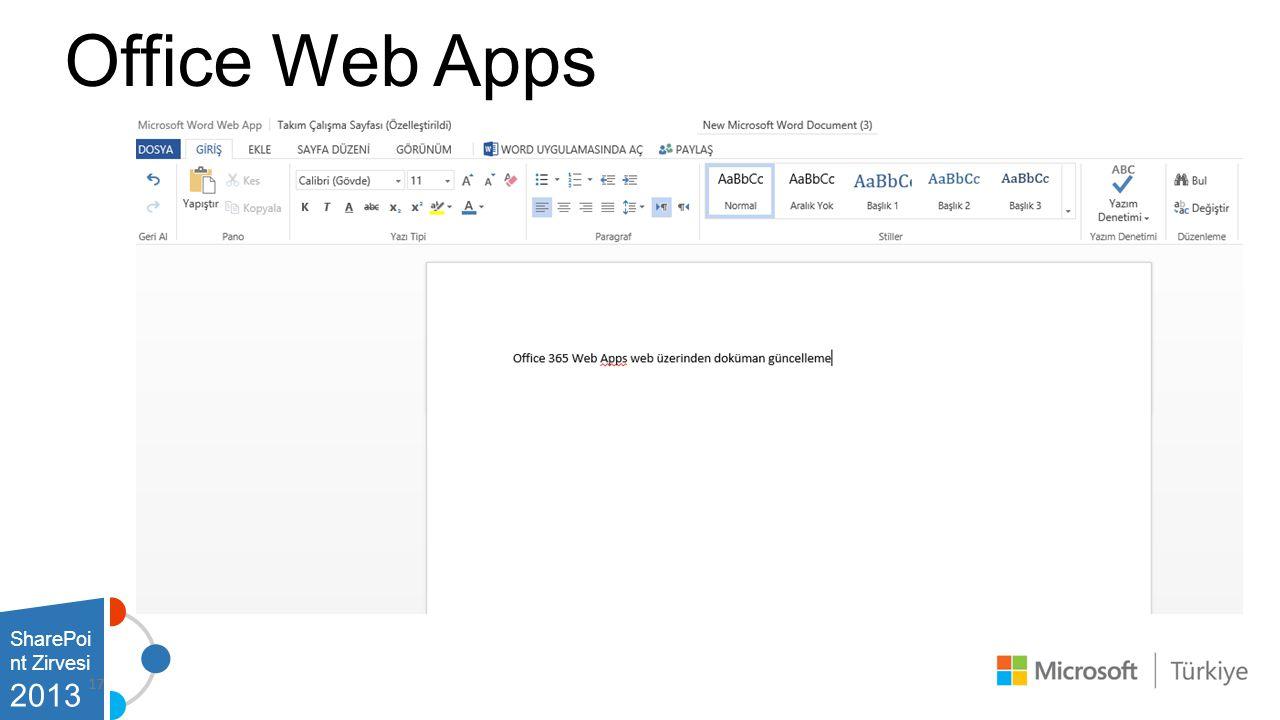 SharePoi nt Zirvesi 2013 Office Web Apps