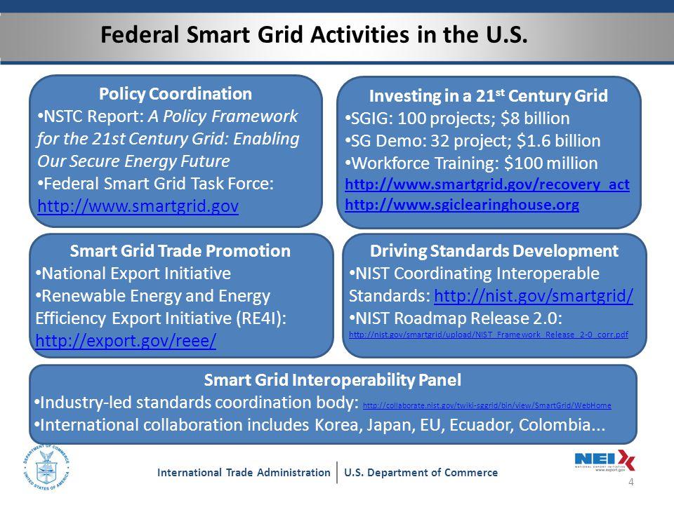 Smart Grid Deployment Progress in the United States 5 International Trade AdministrationU.S.