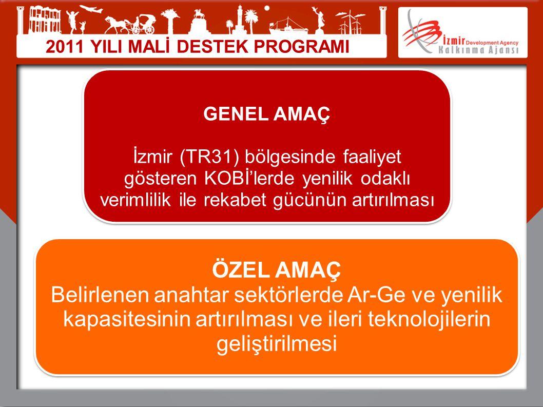 GENEL AMAÇ İzmir (TR31) bölgesinde faaliyet gösteren KOBİ'lerde yenilik odaklı verimlilik ile rekabet gücünün artırılması GENEL AMAÇ İzmir (TR31) bölg