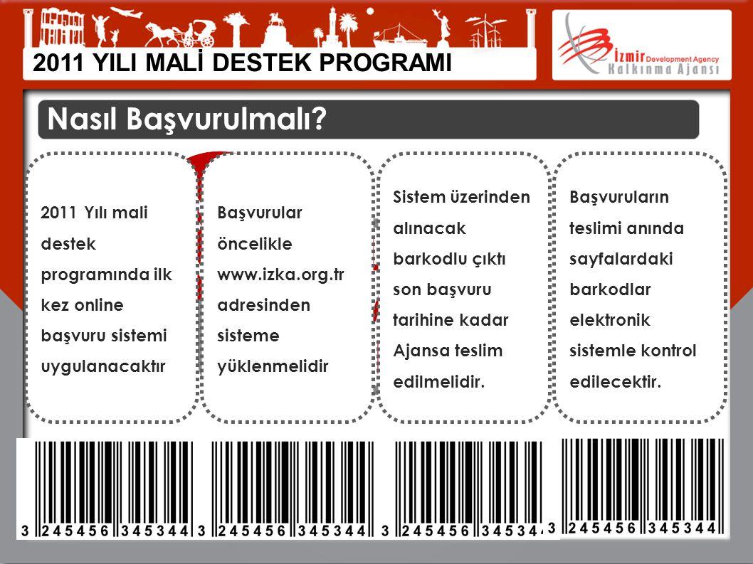 Nasıl Başvurulmalı? ONLINE BAŞVURU SİSTEMİ İLK KEZ 2011 Yılı mali destek programında ilk kez online başvuru sistemi uygulanacaktır Başvurular öncelikl