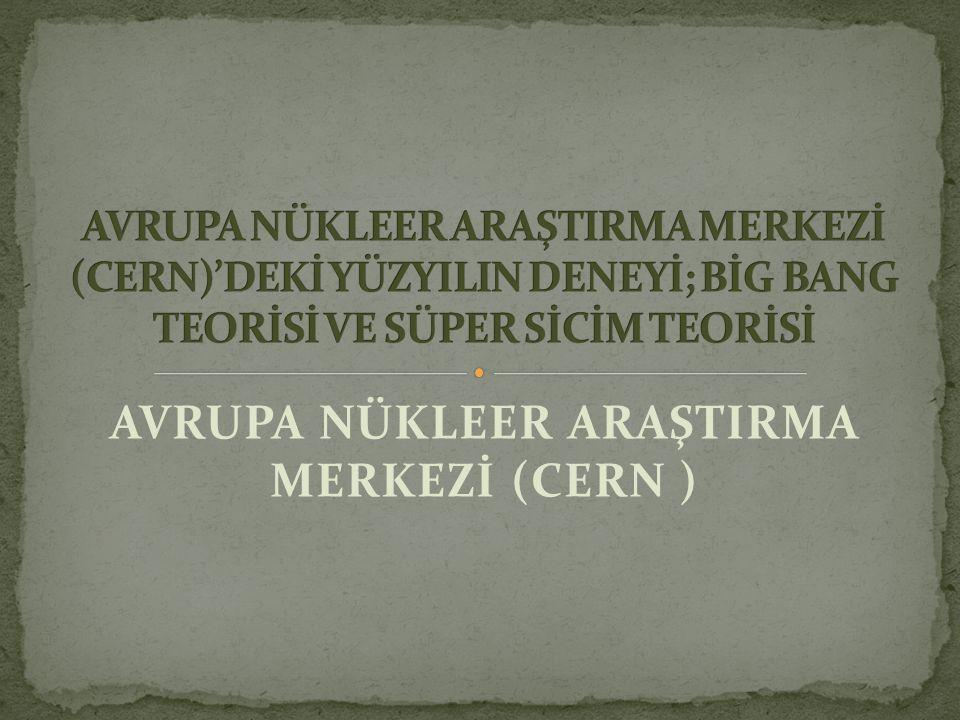 AVRUPA NÜKLEER ARAŞTIRMA MERKEZİ (CERN )