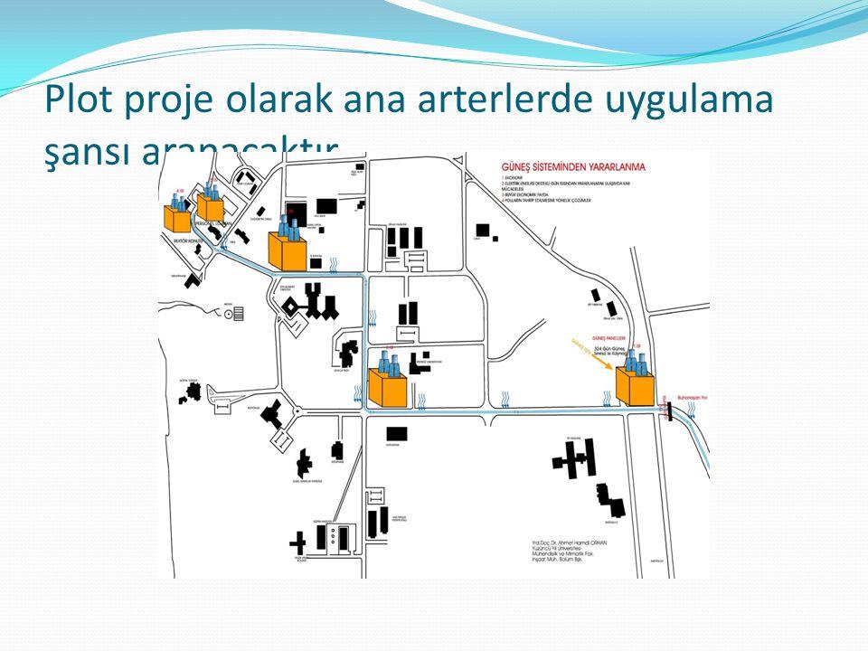 Plot proje olarak ana arterlerde uygulama şansı aranacaktır.